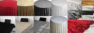 CRUSHED VELVET PLAIN THICK FABRIC MATERIAL FOR TABLE CLOTHS CURTAINS WEDDINGS