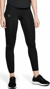 Under Armour HeatGear Rush Run Womens Running Tights Black Compression Training