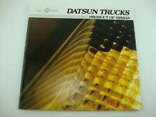 1982 Datsun Nissan Pickup Truck King Cab Sales Brochure Catalog
