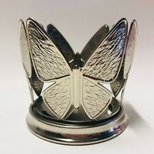 Bath & Body Works Butterfly Silver Metal Medium Candle Soap Holder Sleeve New