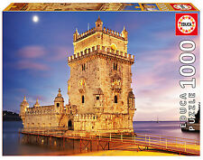 Puzzle Educa 17195 Torre de belem, 1000 piezas, Lisboa, Portugal, Arquitectura