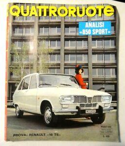 QUATTRORUOTE - MAGGIO 1968 - RENAULT 16 TS / 850 SPORT