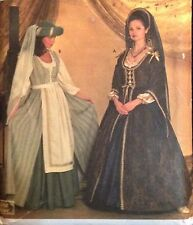 Medieval Costume Pattern S7756 Womens Gown Dress Apron 10 12 14