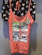 Primark Ladies Love to Lounge BULL IL BULL DOG Cami Vest & Short Set Pjs BNWT L