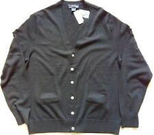 Brooks Brothers Classic Fit Merino Wool Cardigan Size L/XL (Black)