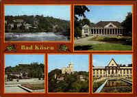 DDR Postkarte BAD KÖSEN Kr. Naumburg Saale ua. Rudelsburg, Staatswehr uvm.