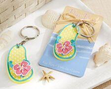 Flip Flop Tropical Flower Key Ring Keychain Bridal Shower Wedding Favors