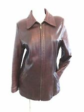 A. F. SUBA BUTENI-ARAD ECHT LEDER WOMENS BROWN LEATHER JACKET SIZE M