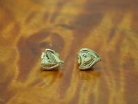 14kt 585 Gelbgold Ohrstecker mit Diamant Besatz / Ohrringe / 1,3g