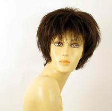 Perruque femme 100% cheveux naturel châtain ref CATE 6