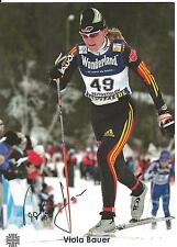 Autogramm AK Viola Bauer Ski Langlauf Olympiasiegerin 2002 wh Griechenland 49