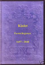 Genealogy - Kinlet Parish Registers (Shropshire)