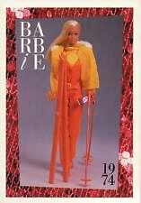 "Barbie Collectible Fashion Trading Card "" Sun Valley Barbie "" Ski Gear 1974"