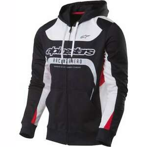 ALPINESTARS SESSION MEN'S CASUAL HOODIE BLACK/ WHT / RED  NEW