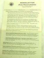 Hollywood Museum Newsletter Vol.2 No.2 February 20,1964