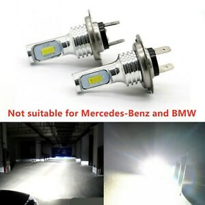 2X H7 12V 100W Xenon White 6000k LED Car Headlight Lamp Globes Bulbs LED HID