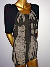 Gorgeous two tone PORTMANS layered party blouse szS