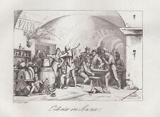 Osteria in Sezze 1840  bulino