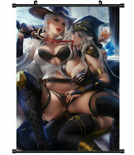 Wall Scroll Painting Anime Poster Ashe Ashe Lol OW Home Decor 60*90CM