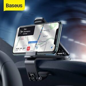 Baseus 360° Clip On Car Center Stack Dashboard Phone Holder Universal GPS Stand