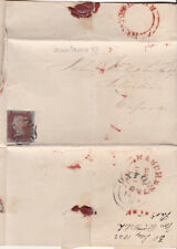 1841 QV NEWTON HEATH UDC & MX ON COVER 1d RED STAMP BLACK PLATE XI Cat £350