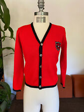 Vintage 1950s Sweater, Rendale, Wool Button Up Cardigan, Size Xs