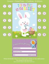Pin The Tail On The Rabbit Bunny Child Kid Easter Egg Hunt Party Family Game Toy