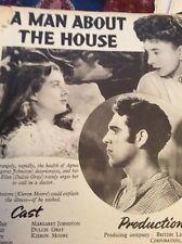 S1 Ephemera 1947 Article Film A Man About The House Felix Aylmer