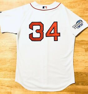 Size 44 Majestic Authentic David Ortiz 2004 World Series Red Sox Home Jersey