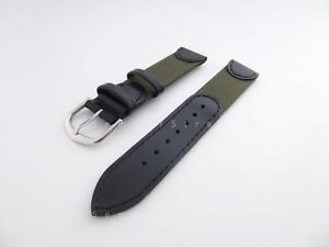Top Quality Handmade Genuine Italian Leather & Canvas Strap 18mm 20mm for Nomos