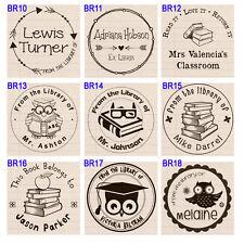 "Custom Self Inking teacher book school personalized namerubber stamp 1.5"""