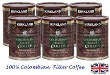 Colombian Filter Coffee Supremo Bean Dark Roast Kirkland, Bulk Buy, 6 x 1.36kg