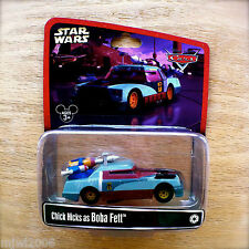 Disney PIXAR Cars STAR WARS Chick Hicks as BOBA FETT NEW! diecast Disney Parks