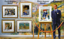 More details for niger 2015 mnh pierre-auguste renoir 4v m/s + 1v s/s art paintings stamps