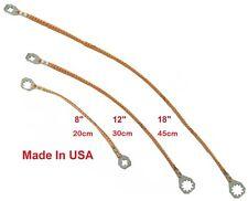 "(Multi Kit) Universal 8""+12""+18"" Copper Ground/Bonding Straps.  Made in USA"