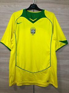 Brazil Brasil 2004-2006 Home Football Shirt Soccer Jersey Trikot Camiseta sz XL