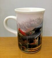Thomas Kinkade Painter of Light Lilac Cottage Coffee Mug Cup
