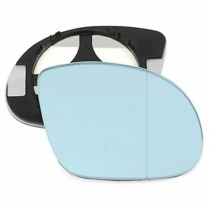 Right side mirror glass for BMW M3 (E36) 92-99 CLIP ON Wide Angle Blue