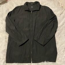 Hugo Boss Mens Size 40R Lightweight Black Full Zip Jacket EUC