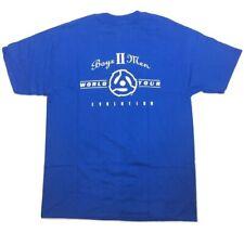 GROOVE COMPANY Boyz II Men Tour Evolution T-shirt Blue 1997 L Large Vintage