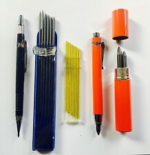 Set x2 Sizes BUILDERS CARPENTERS PENCIL Black/Yellow Lead EASY TO SEE 5.6mm,2mm