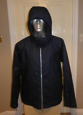 BNWT Barbour ORTA POSIEDON BLUE HOODED WAXED COTTON JACKET, XL , RRP £259