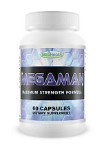 MegaMan Natural Testosterone and Nitric Oxide Booster / Support Muscle Growth