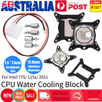 0.3mm Mini Computer CPU Water Cooling Block Cooler For Intel 775/115x/2011 AU