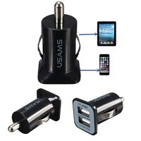 3.1A 2-Port 12V Mini Bullet Dual USB Car Power Cigarette Lighter Charger Adapter