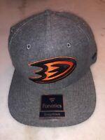 Anaheim Ducks Fanatics Snapback Hat Cap Gray Nhl Hockey Msrp $36 New