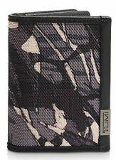 TUMI ALPHA GLS RFID GUSSETED CARD CASE ID LEATHER WALLET GREY#0119256GHLPID-NWT