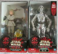 Star Wars Ep 1 TOMY Anakin Skywalker W Theed & Hasbro Electronic TC-14 12' 1:6