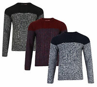 Tokyo Laundry New Men's Crew Neck Jumper Contrast Acrylic Knitted Pullover top