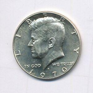1970-D KENNEDY 40% SILVER HALF DOLLAR EXACT COIN SHOWN